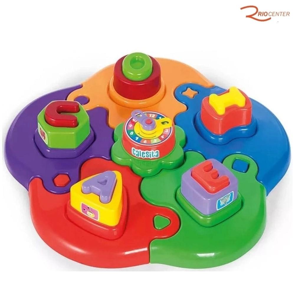 Brinquedo Calesita Puzzle Mania Letras +12m