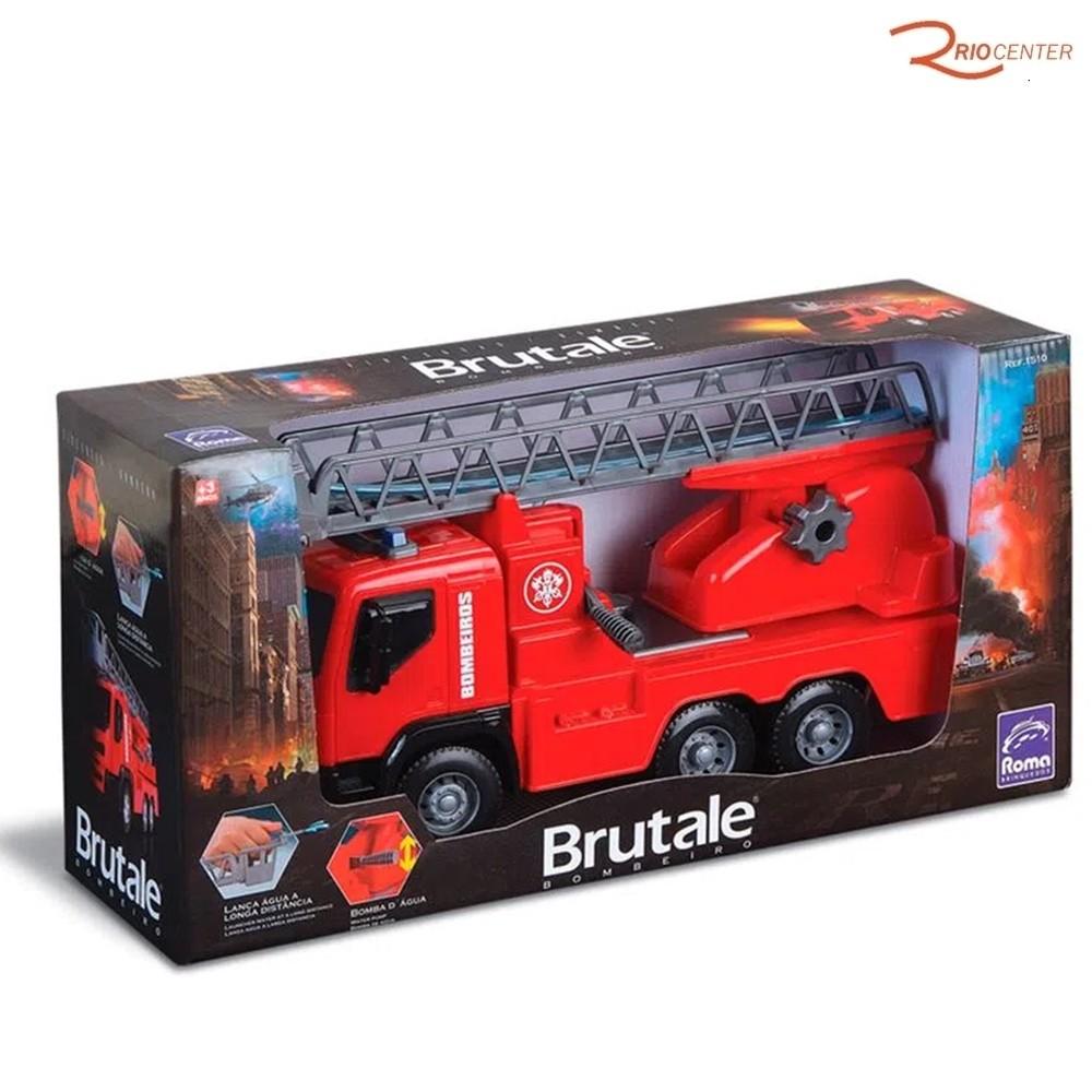 Brinquedo Caminhão Roma de Bombeiro Brutale +3a