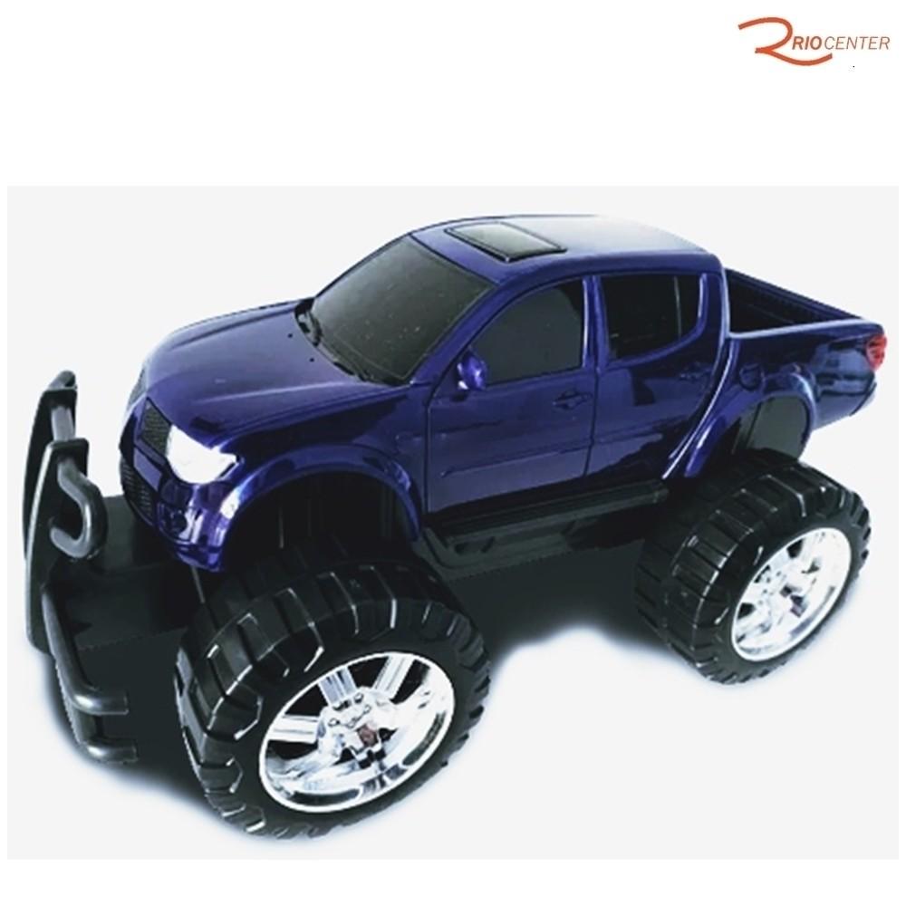 Brinquedo Caminhonete Roma Pick-up Rx Brutal Azul +3a