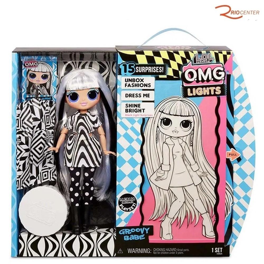 Brinquedo Candide Boneca LOL O.M.G. Lights Groovy Babe +3a