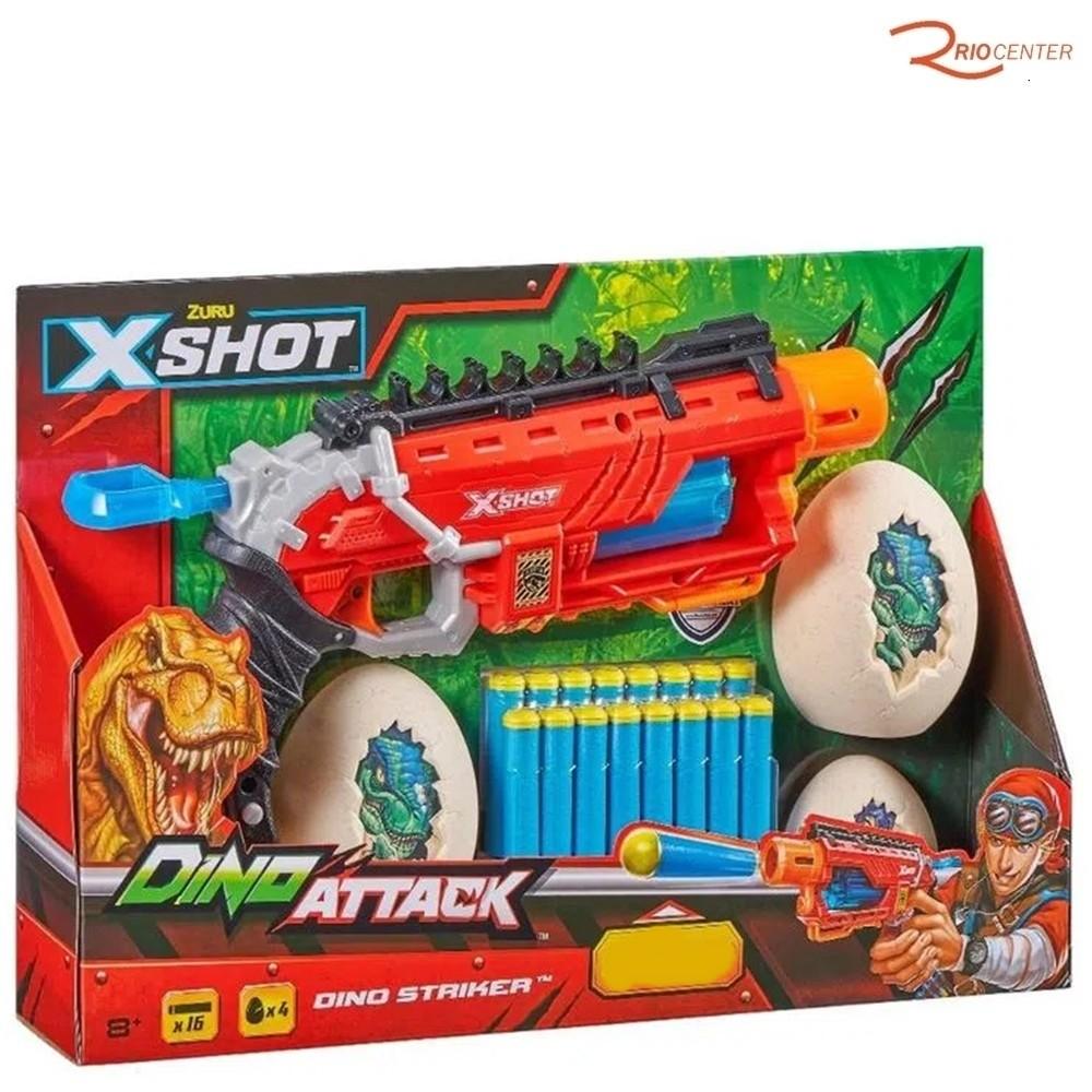 Brinquedo Candide Lançador de Dardos X-Shot Dino Attack +8a
