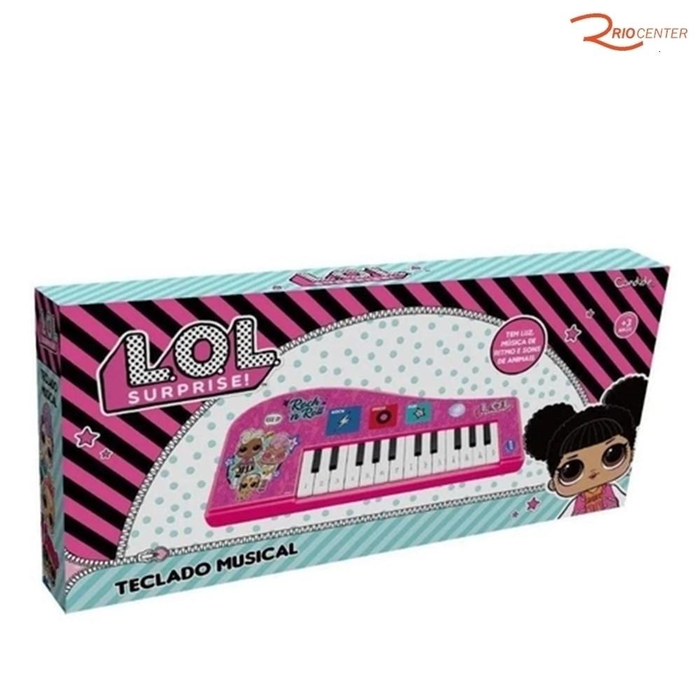 Brinquedo Candide Lol Teclado Musical +3a