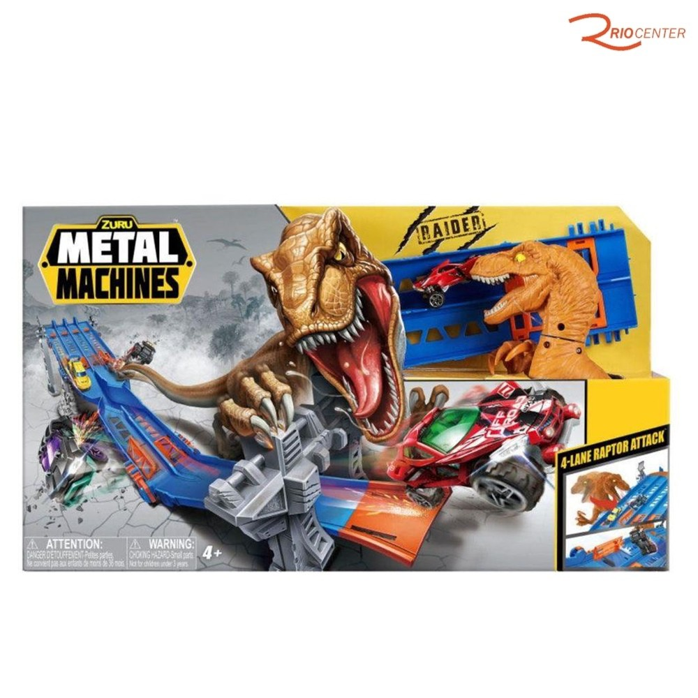Brinquedo Candide Metal Machines Pista 4-Lane Raptor Attack +4a