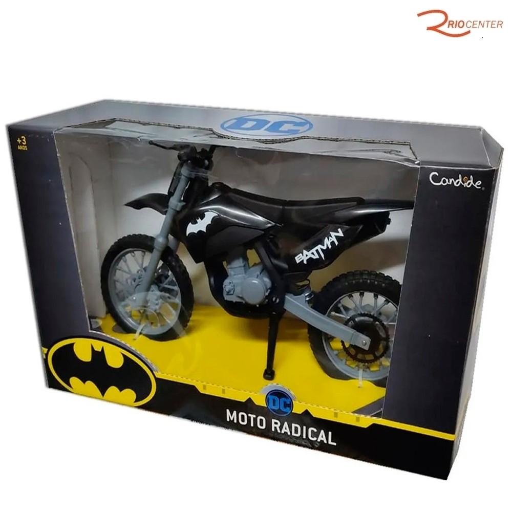 Brinquedo Candide Moto Radical Batman Roda Livre +3a