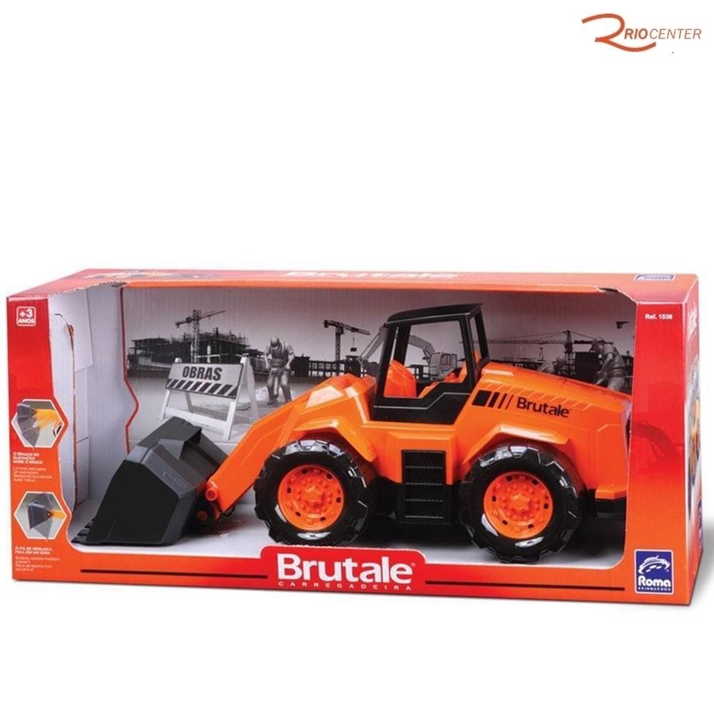 Brinquedo Carregadeira Roma Brutale Laranja +3a