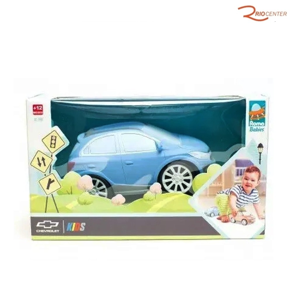 Brinquedo Carrinho Roma Chevrolet Kids Azul +12m