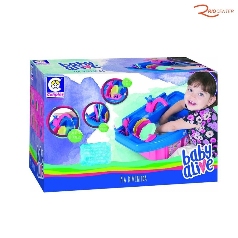 Brinquedo Cotiplas Baby Alive Pia Divertida +3a