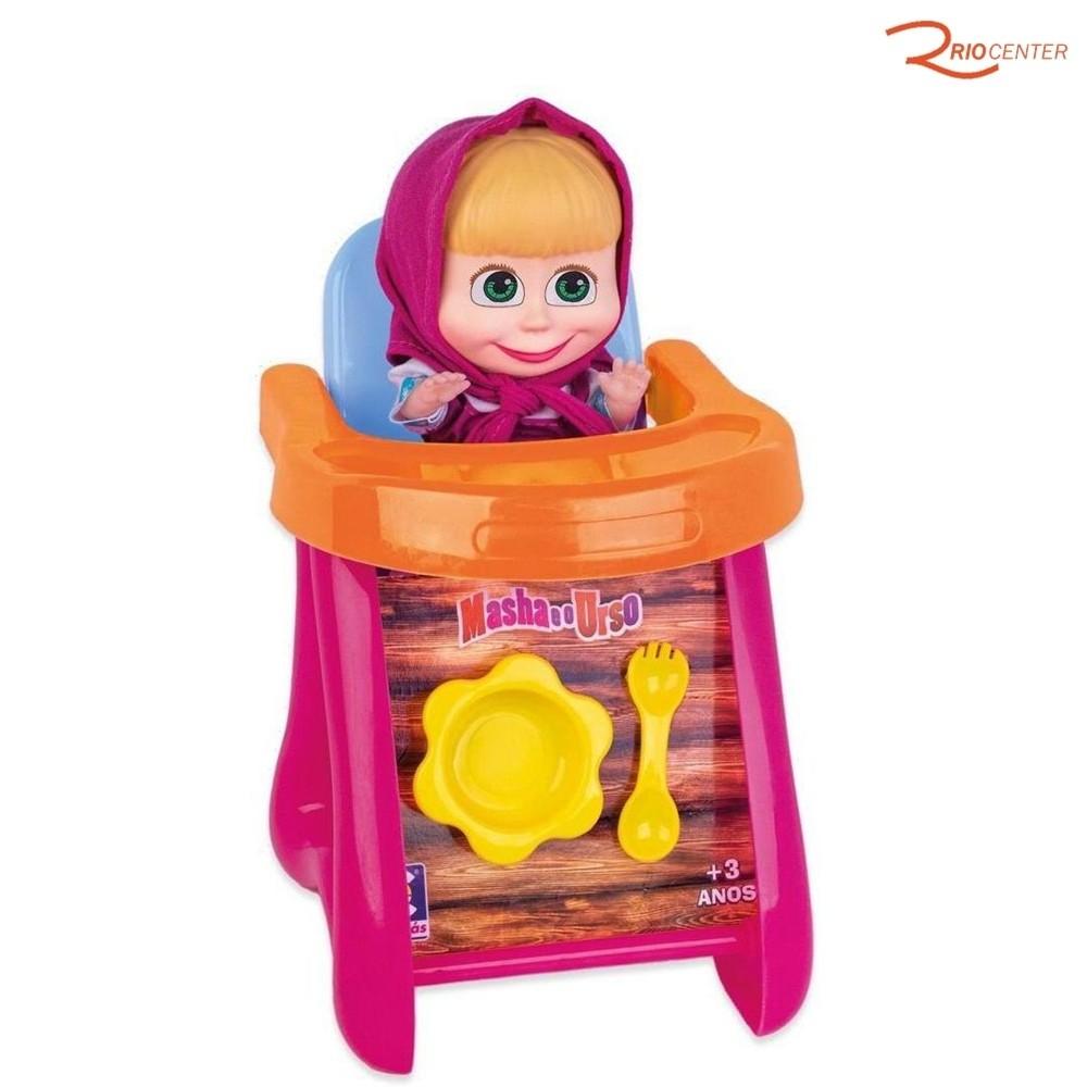 Brinquedo Cotiplás Boneca Masha No Cadeirão +3a