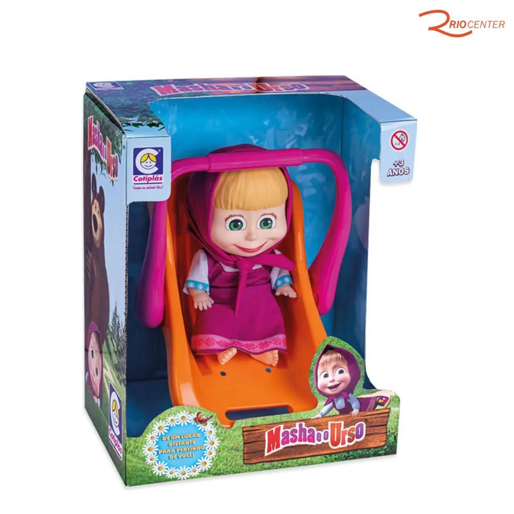 Brinquedo Cotiplás Masha Bebê Conforto +3a