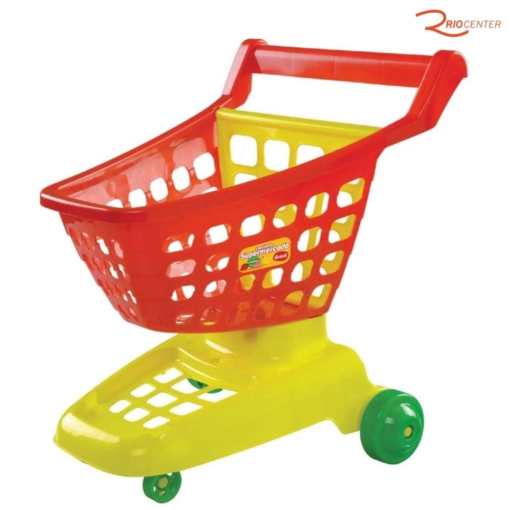 Brinquedo Dismat Carrinho de Supermercado +3a