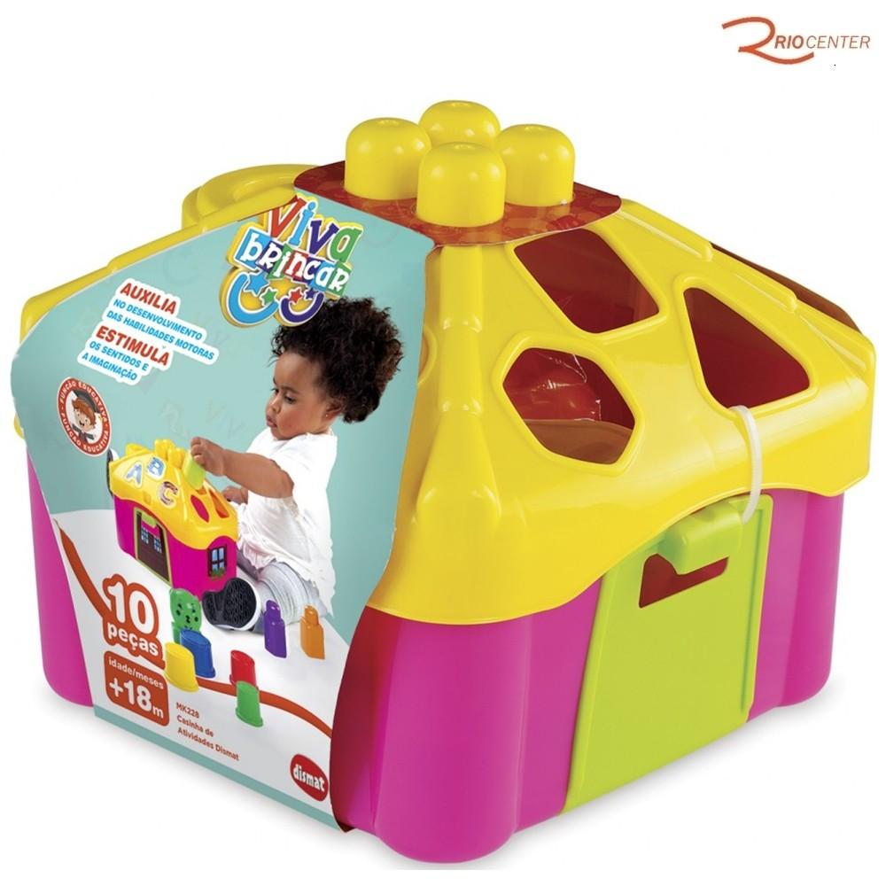 Brinquedo Dismat Casinha de Atividades Rosa +18m