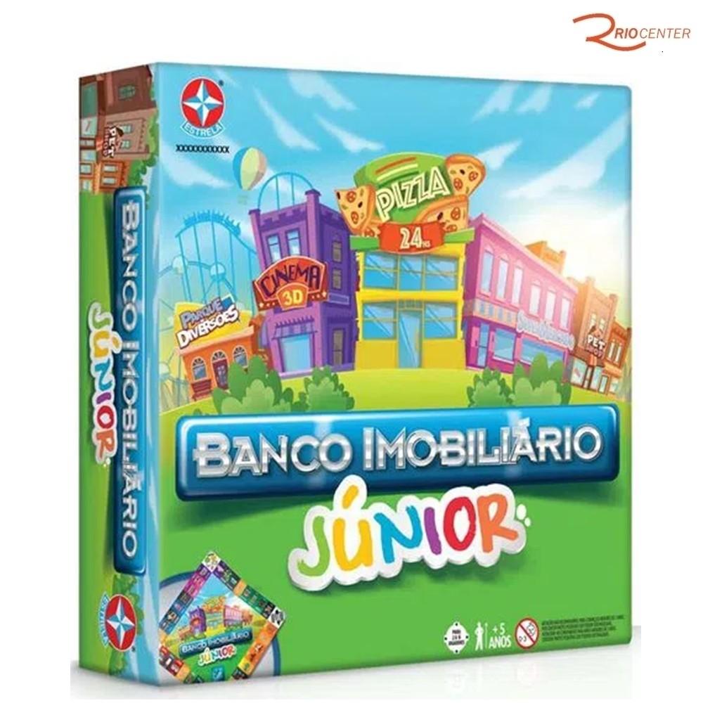 Brinquedo Estrela Jogo Banco Imobiliário Júnior +3a