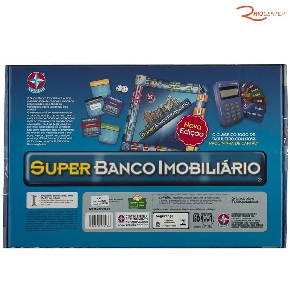 Brinquedo Estrela Jogo Super Banco Imobiliário +12a