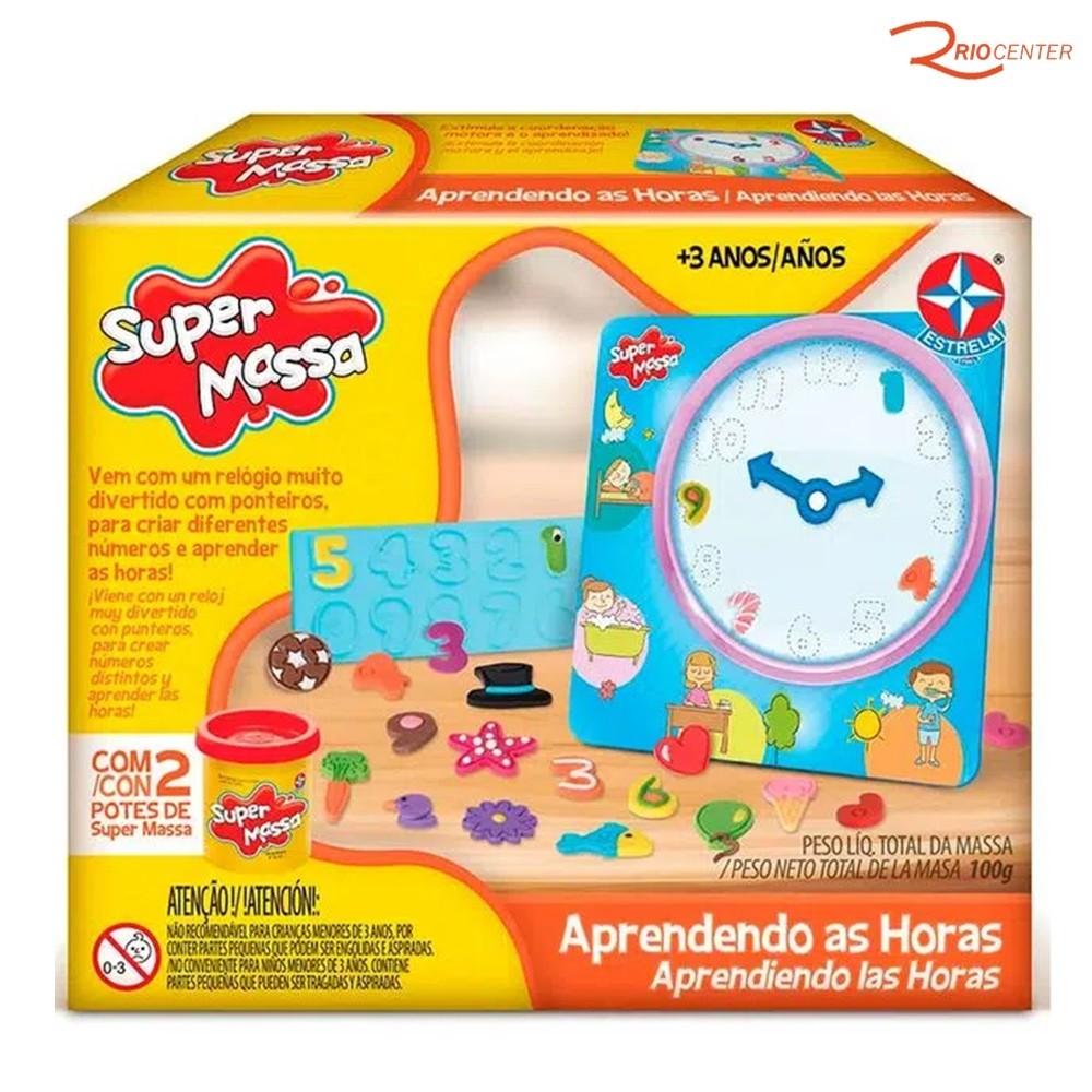 Brinquedo Estrela Super Massa Aprendendo as Horas +3a