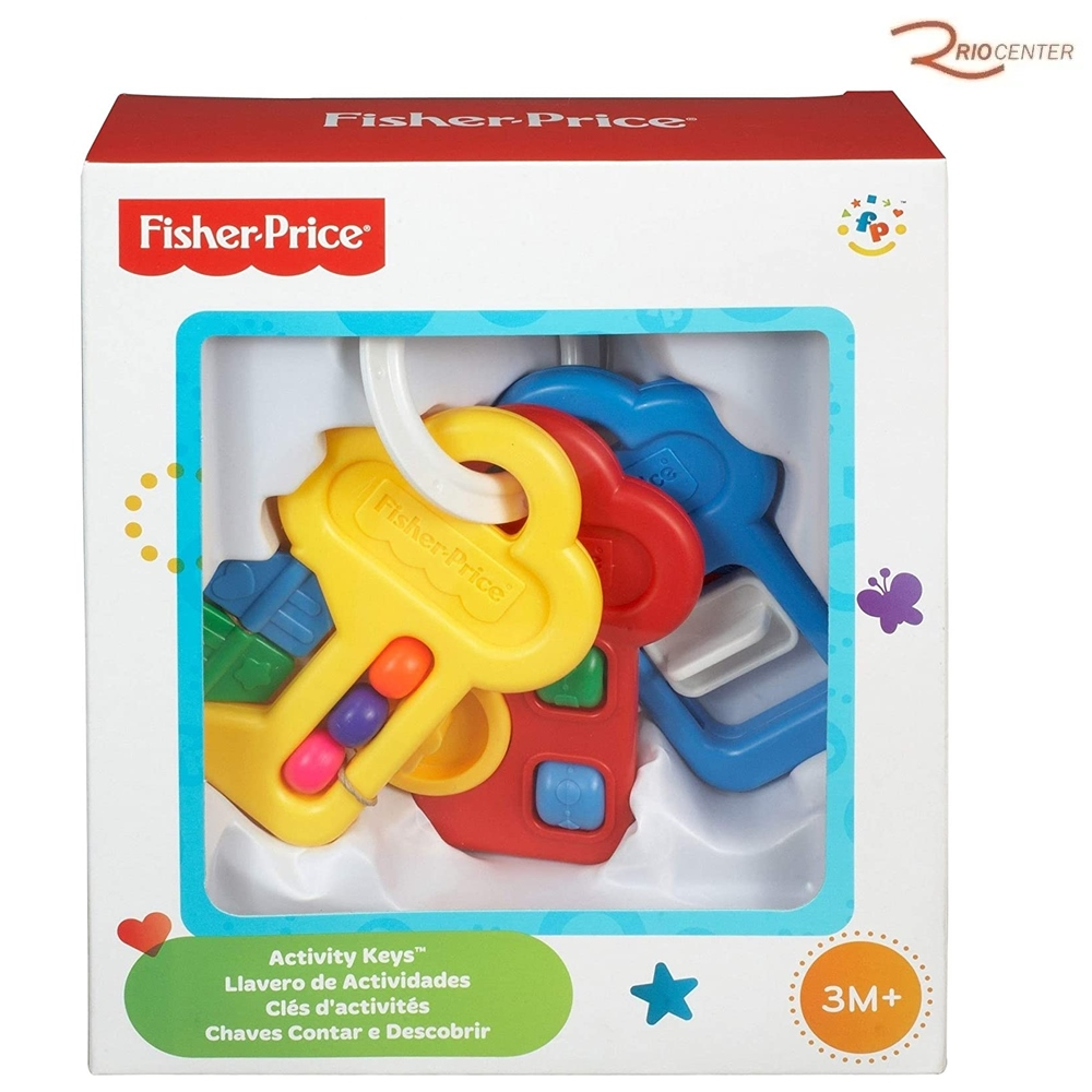 Brinquedo Fisher-Price Activity Keys Chaves Contar e Descobrir +3m