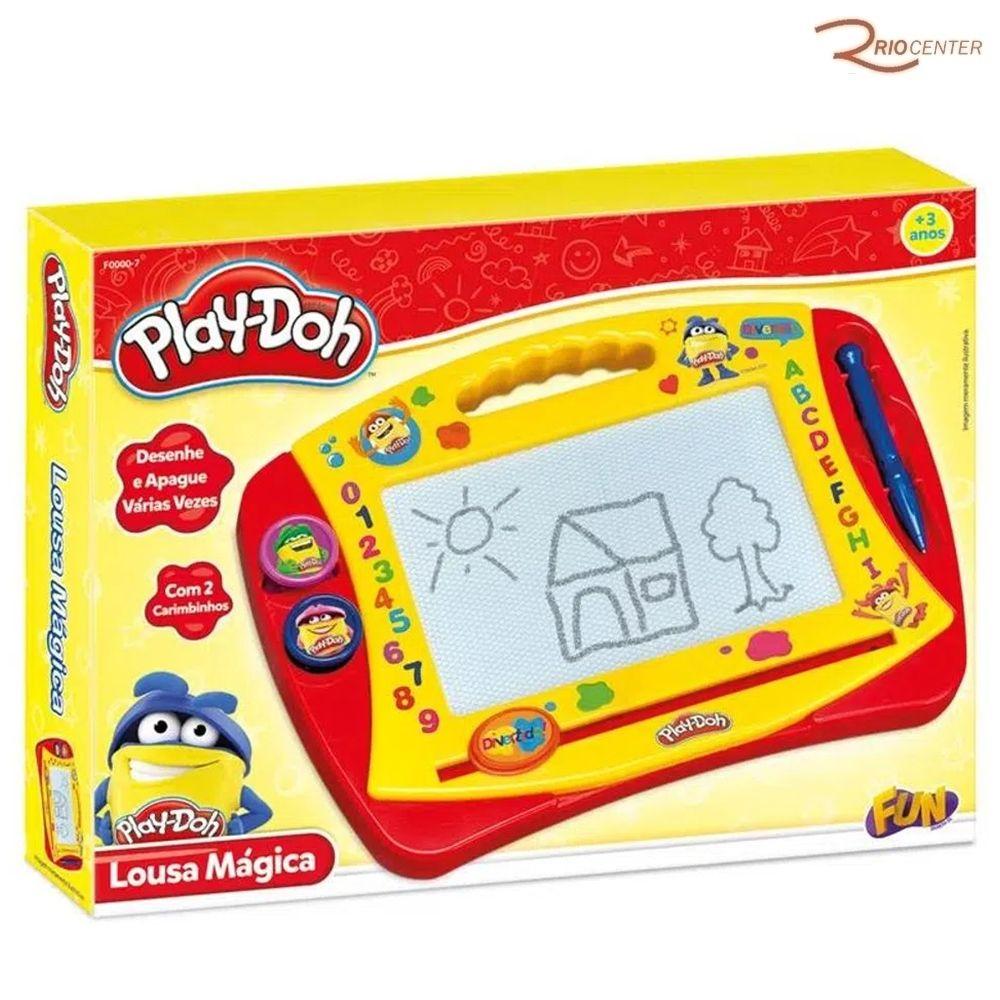 Brinquedo Fun Play-Doh Lousa Mágica +3a