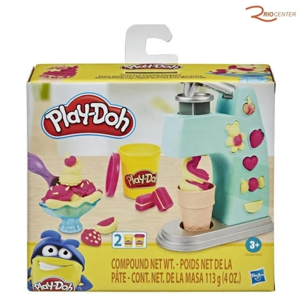 Brinquedo Hasbro Play-Doh Mini Sorveteria Divertida +3a
