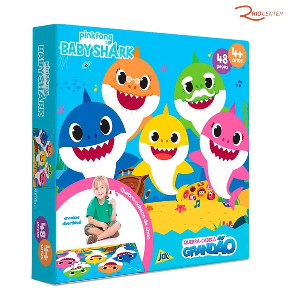 Brinquedo Jak Baby Shark Quebra-Cabeça Grandão 48 Peças +4a