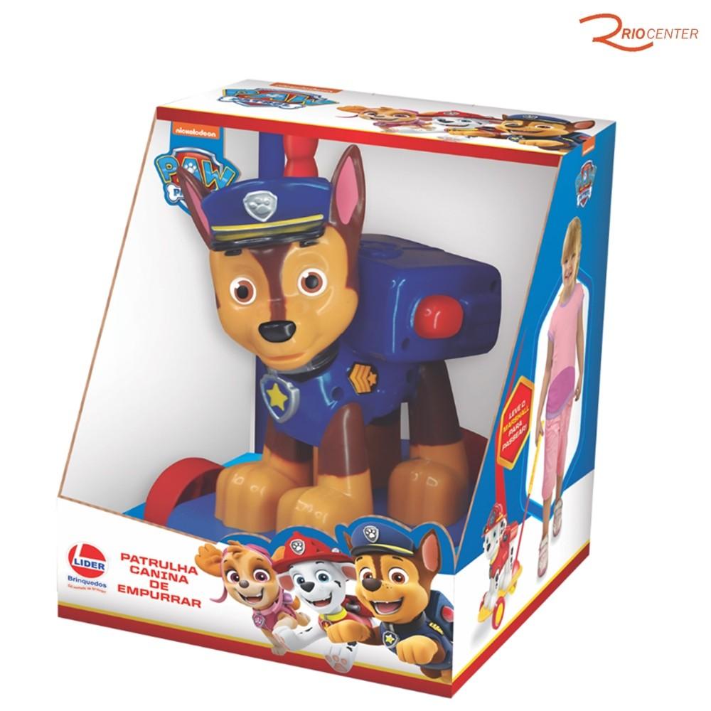 Brinquedo Lider Patrulha Canina de Empurrar Chase +3a