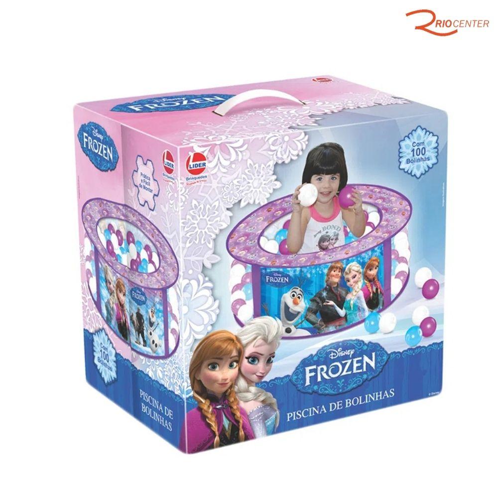 Brinquedo Líder Piscina De Bolinha Frozen +3a