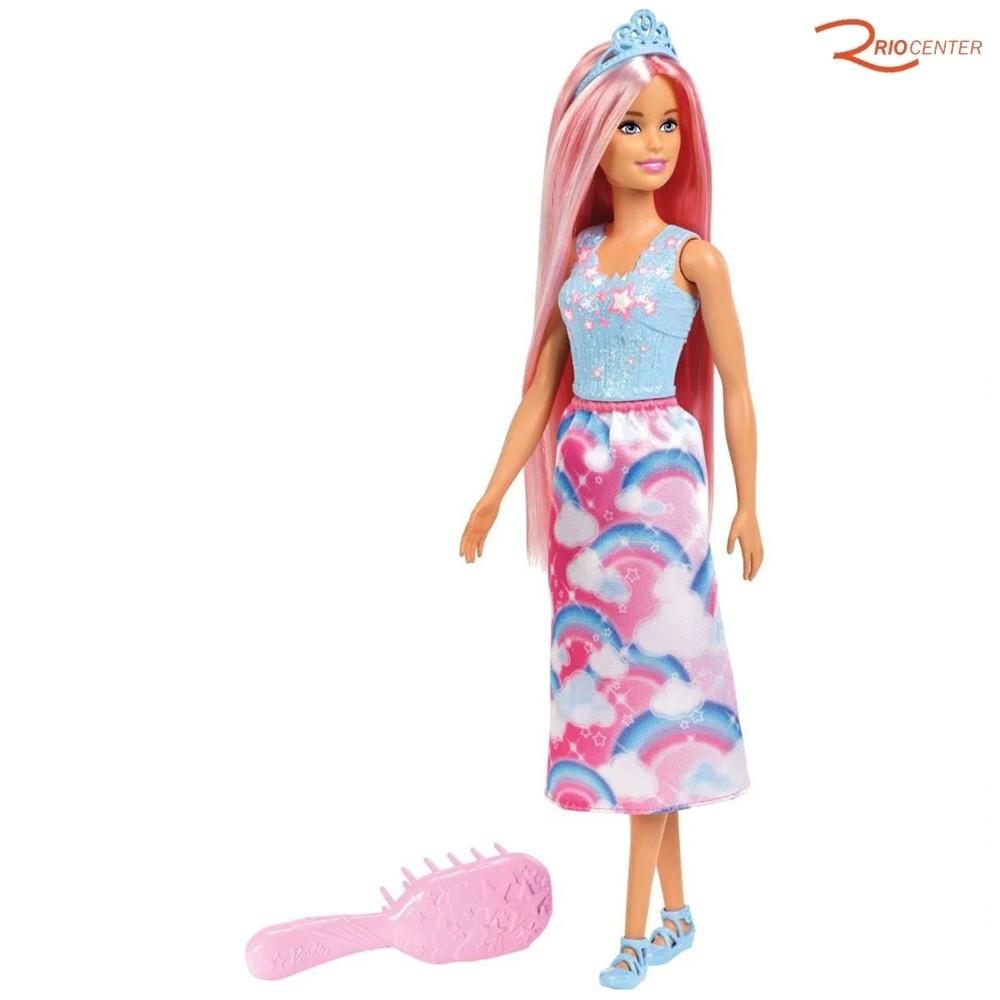 Brinquedo Mattel Barbie Penteados Mágicos +3a