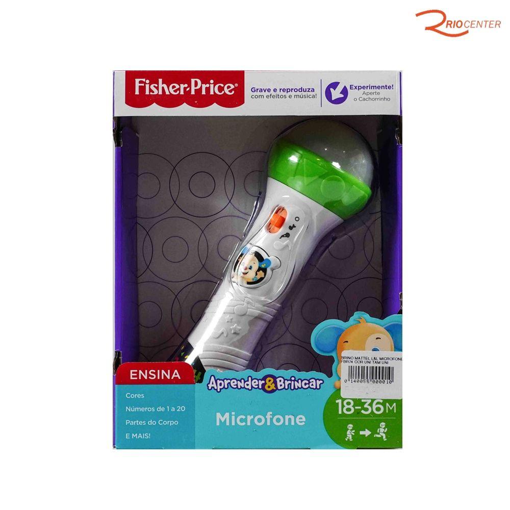 Brinquedo Mattel L&L Microfone Fisher-Price +18m