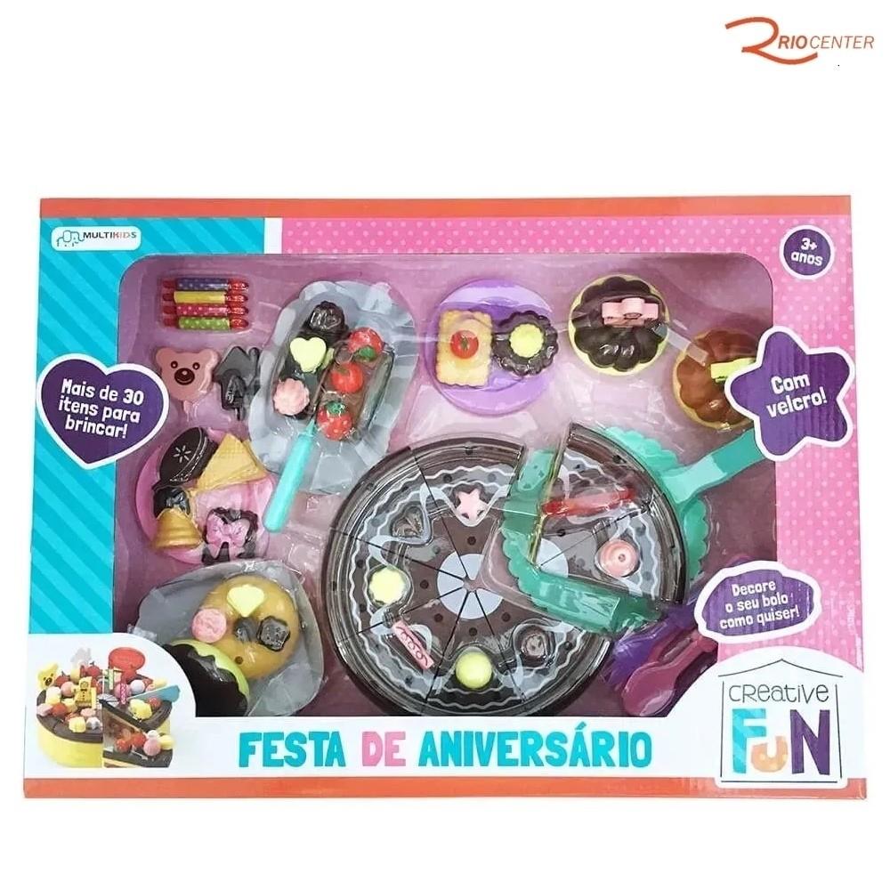 Brinquedo Multikids Creative Fun Festa de Aniversário +3a