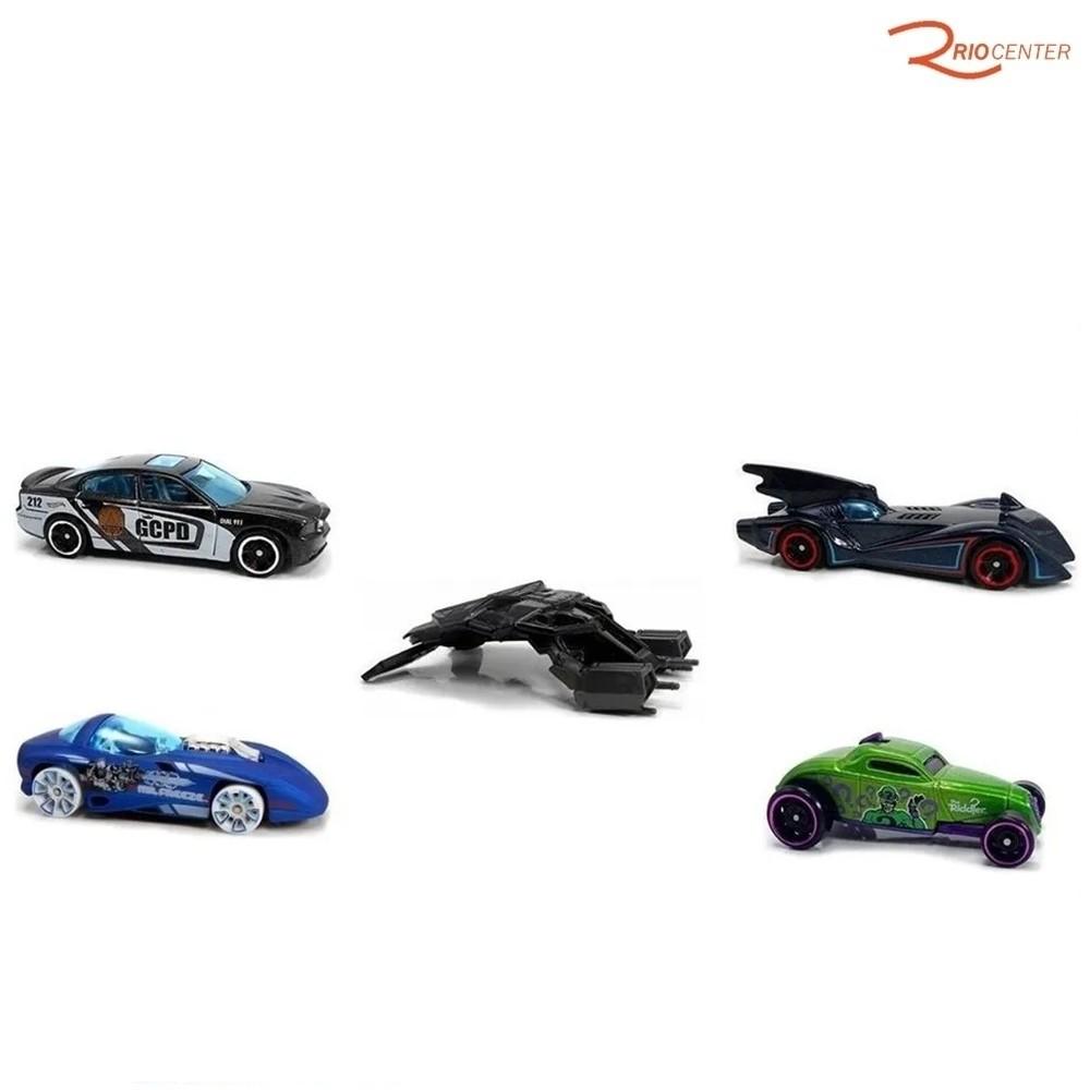 Brinquedo Pack 5 Carrinhos Mattel Hot Wheels Batman +3a