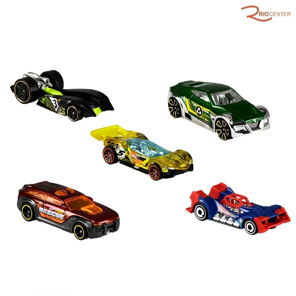 Brinquedo Pack 5 Carrinhos Mattel Hot Wheels City Vs Robo Beasts +3a