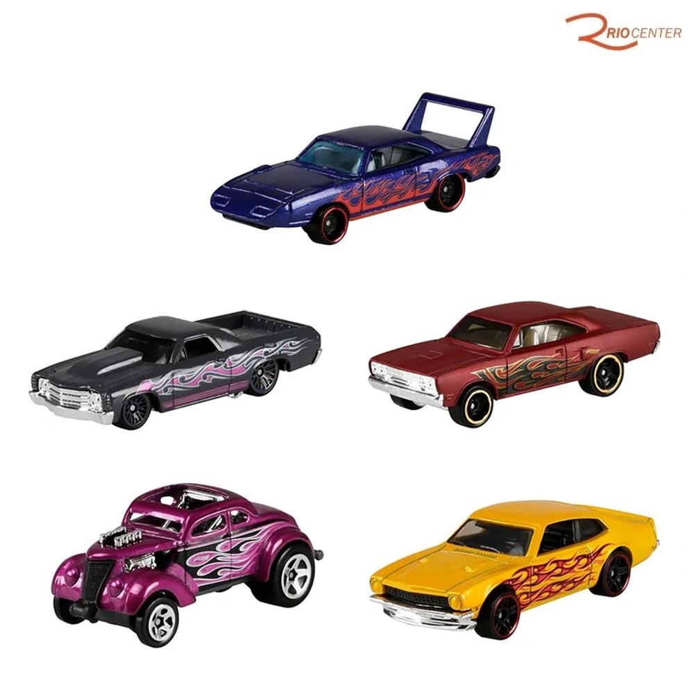 Brinquedo Pack 5 Carrinhos Mattel Hot Wheels Flames +3a