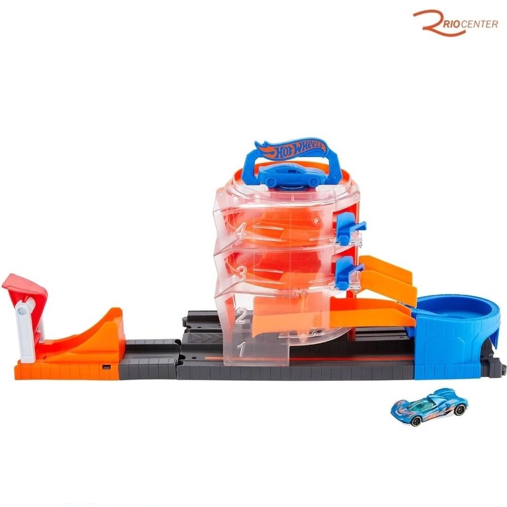 Brinquedo Pista Mattel Hot Wheels Giro na Loja de Carros +3a