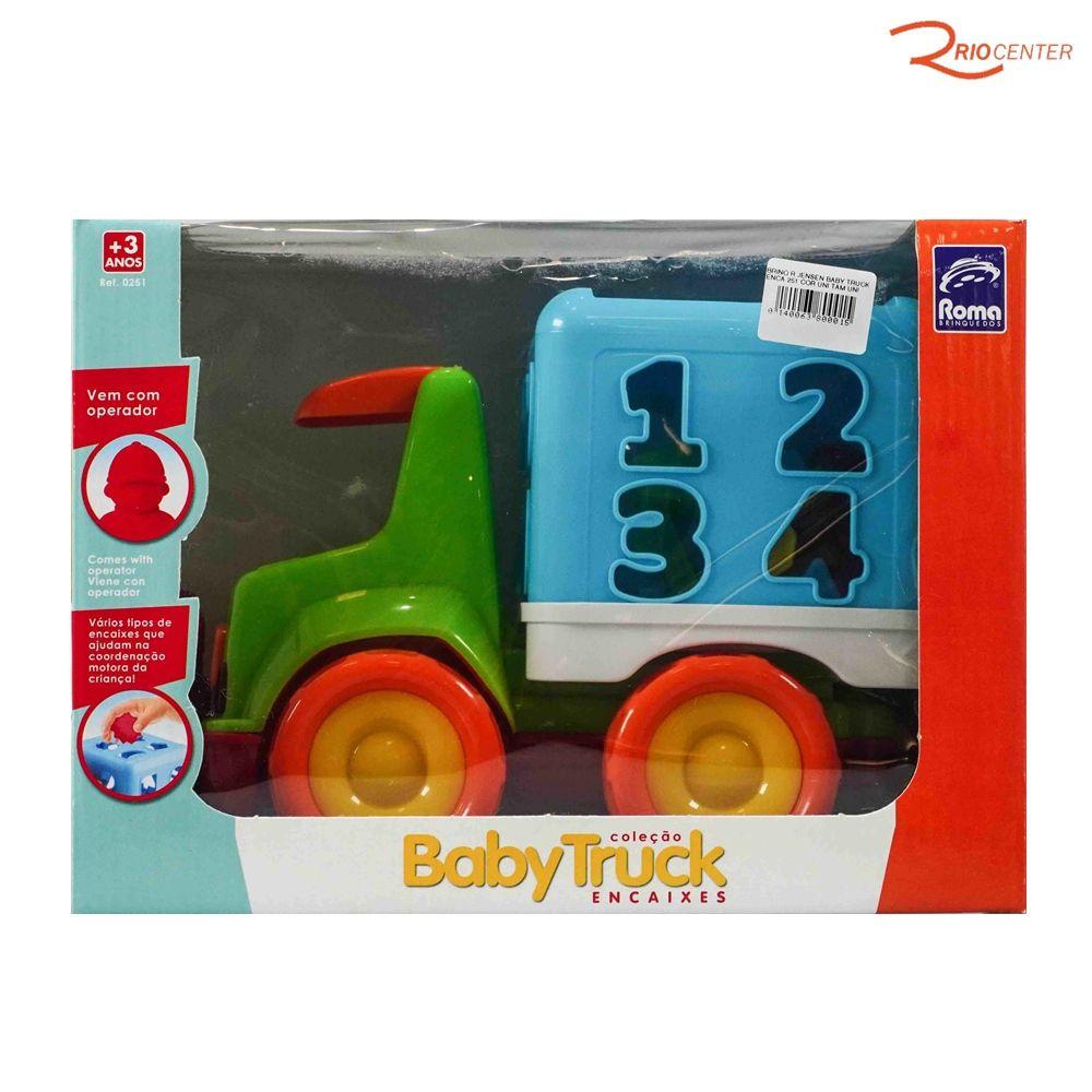 Brinquedo Roma Jensem Baby Truck Encaixes +3a