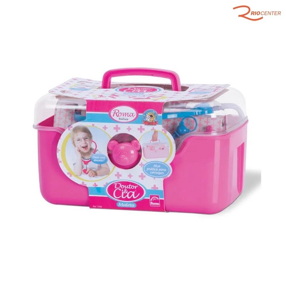 Brinquedo Roma Jensen Babies Maleta Doutor e Cia Rosa +3a