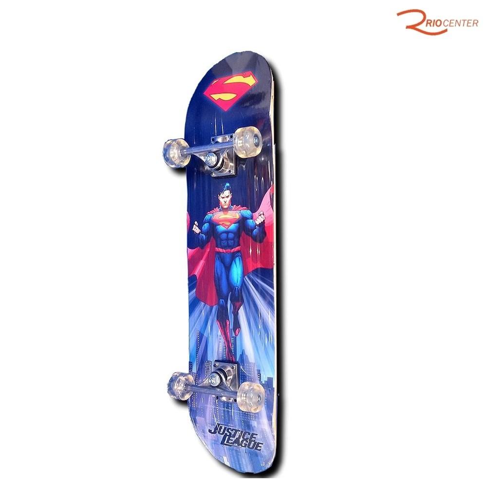 Brinquedo Skateboad Bel Sports Liga da Justiça Semi-profissional +6a