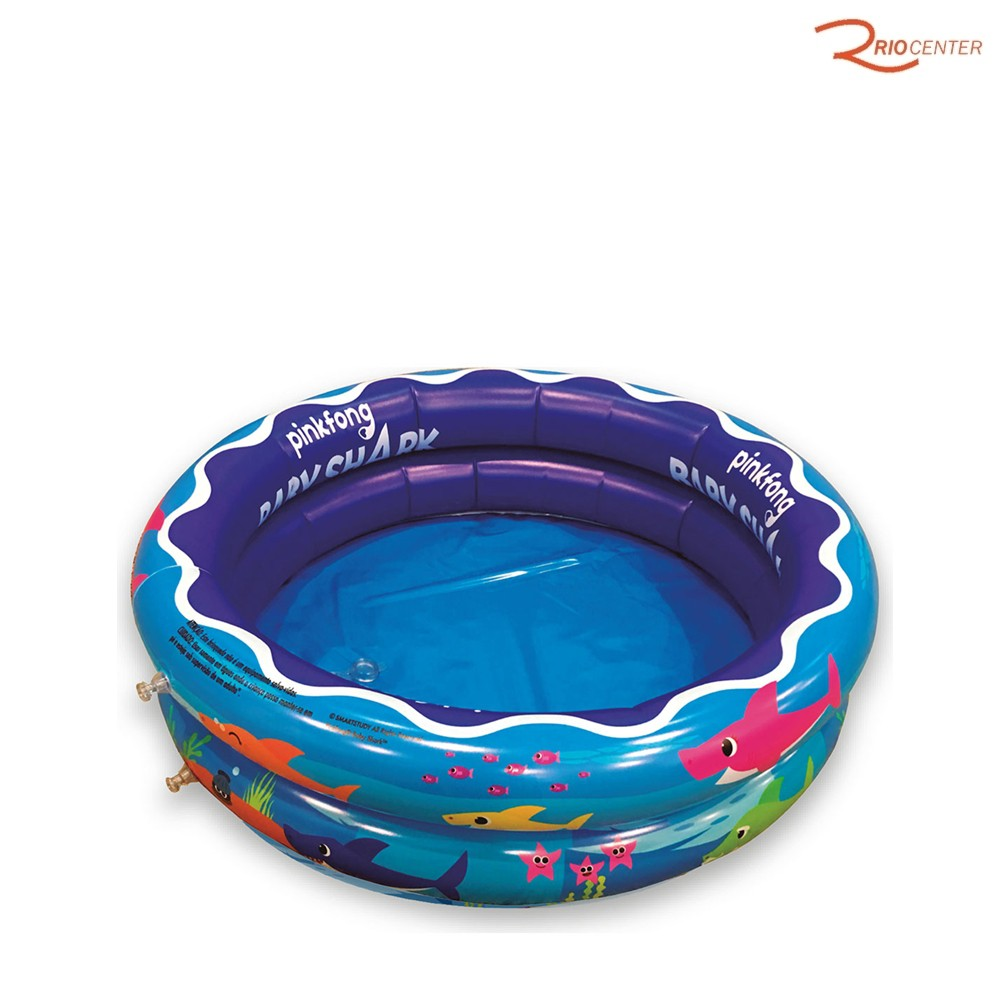 Brinquedo Toyng Baby Shark Piscina Inflável +3a