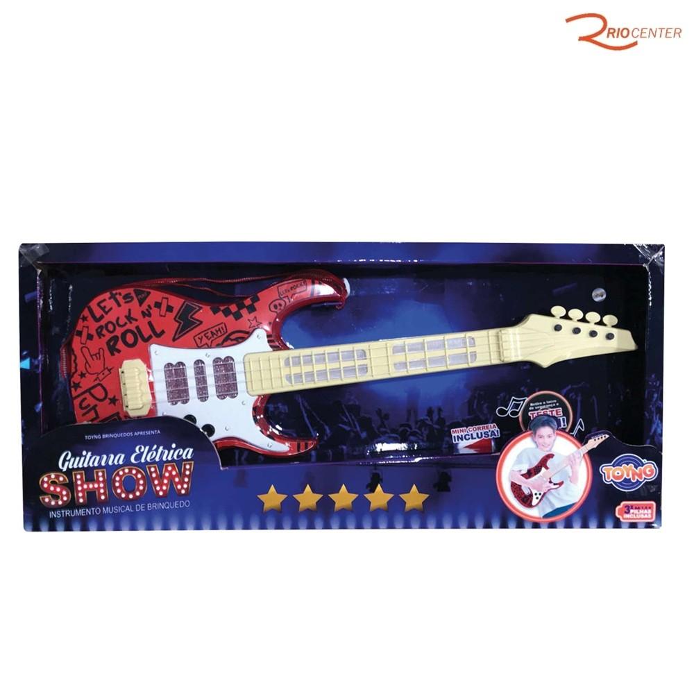 Brinquedo Toyng Guitarra Show Elétrica Vermelha +4a