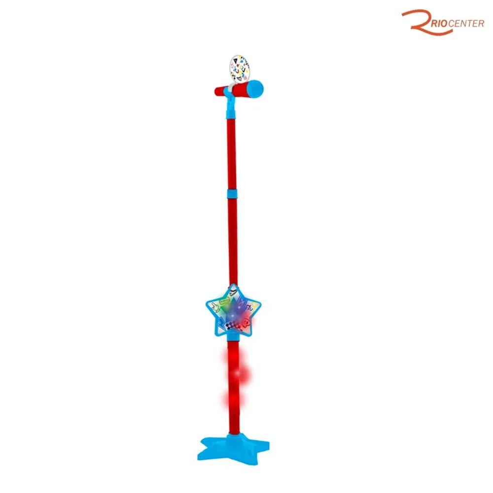 Brinquedo Toyng Karaokê Show Microfone Com Suporte +4a