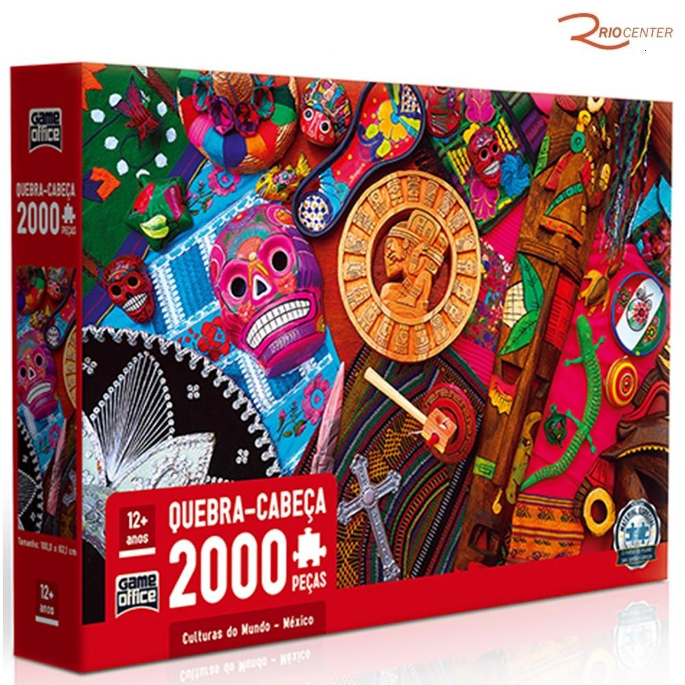 Brinquedo Toyster Jogo Quebra-Cabeça Culturas do Mundo 2000 Peças +12a
