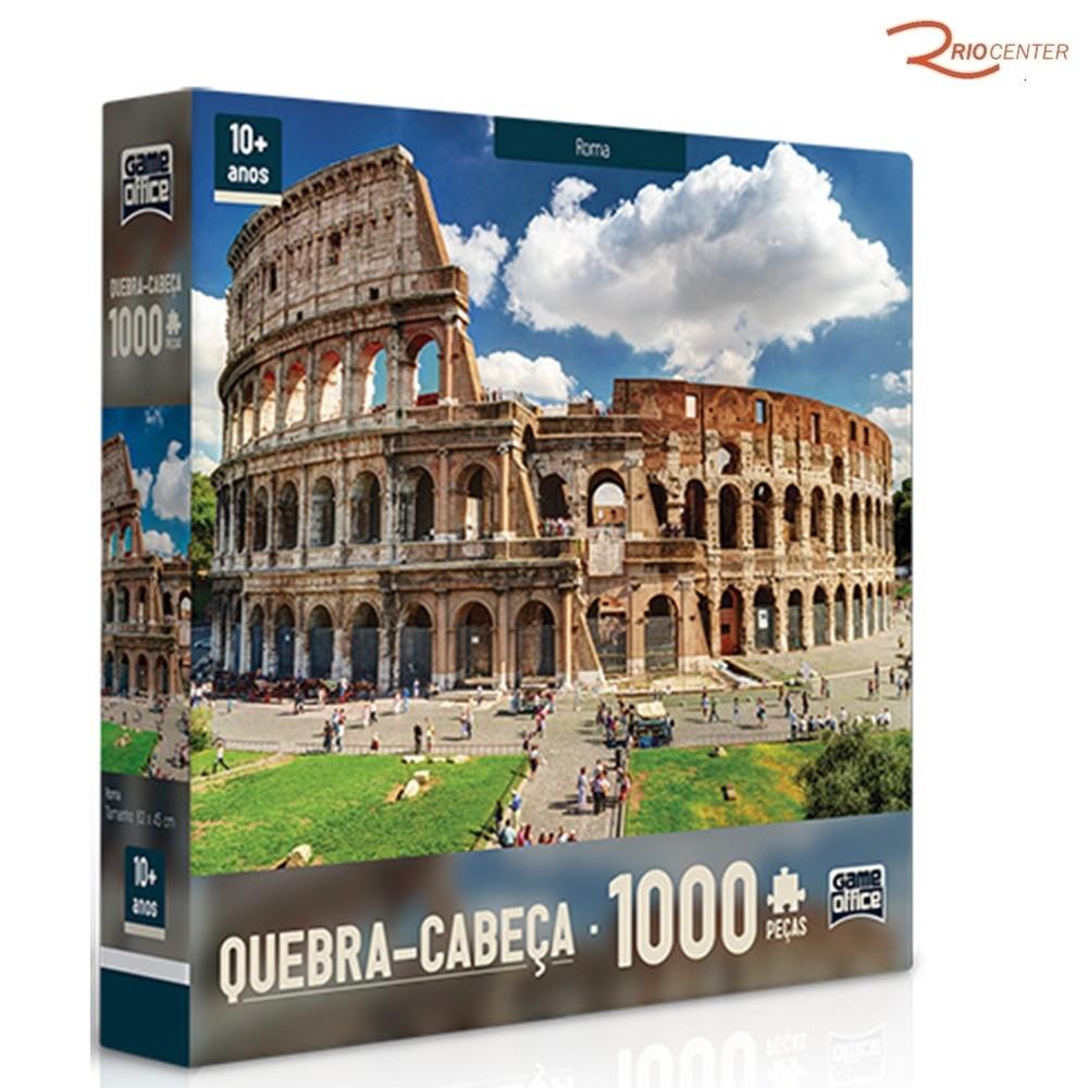 Brinquedo Toyster Jogo Quebra-Cabeça Roma 1000 Peças +10a
