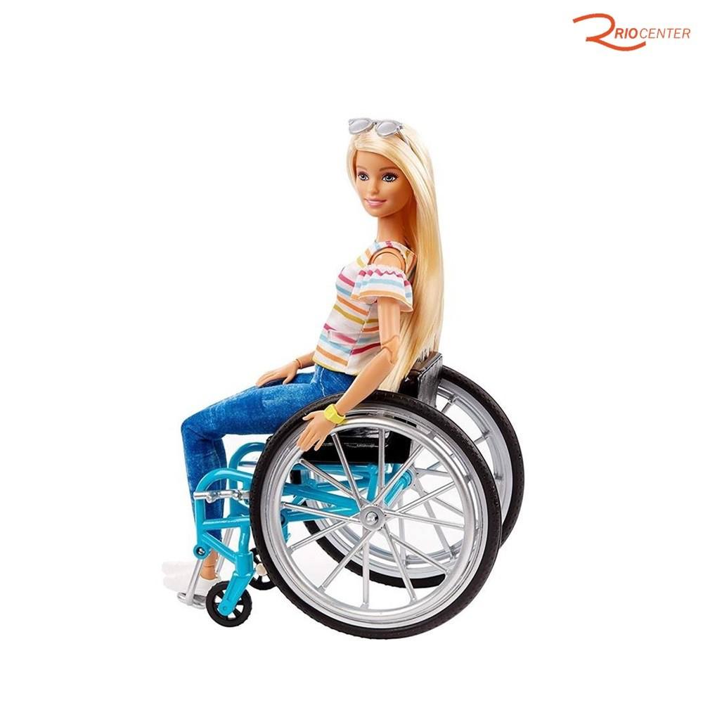 Brinquendo Mattel Barbie Fashionista Cadeira de Rodas +3a
