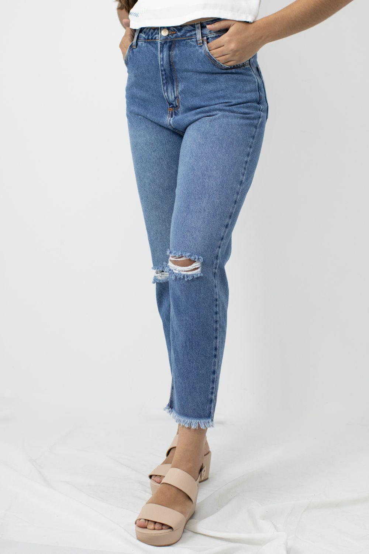 Calça Jeans Cintura Alta Alcanse