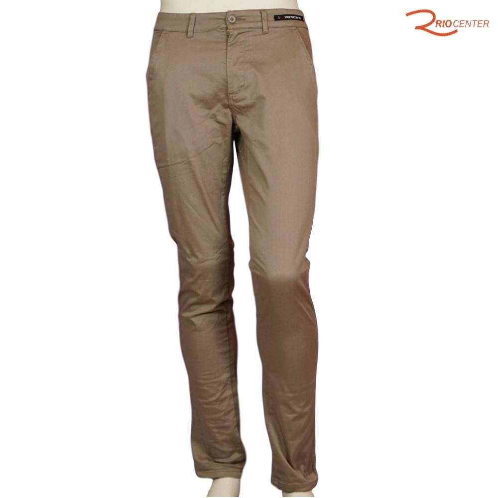 Calça Masculina Jeans Fideli Casual Sport Wear Bege