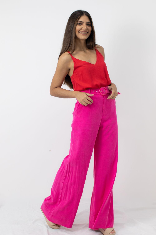 Calça Pantalona Cheroy Pink