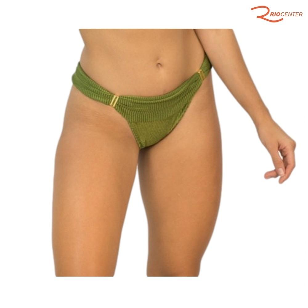 Calcinha Canelada Rygy Bianca Verde Musgo