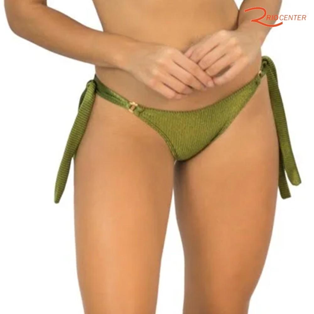 Calcinha Rygy Ana Argola Canelado Verde Musgo