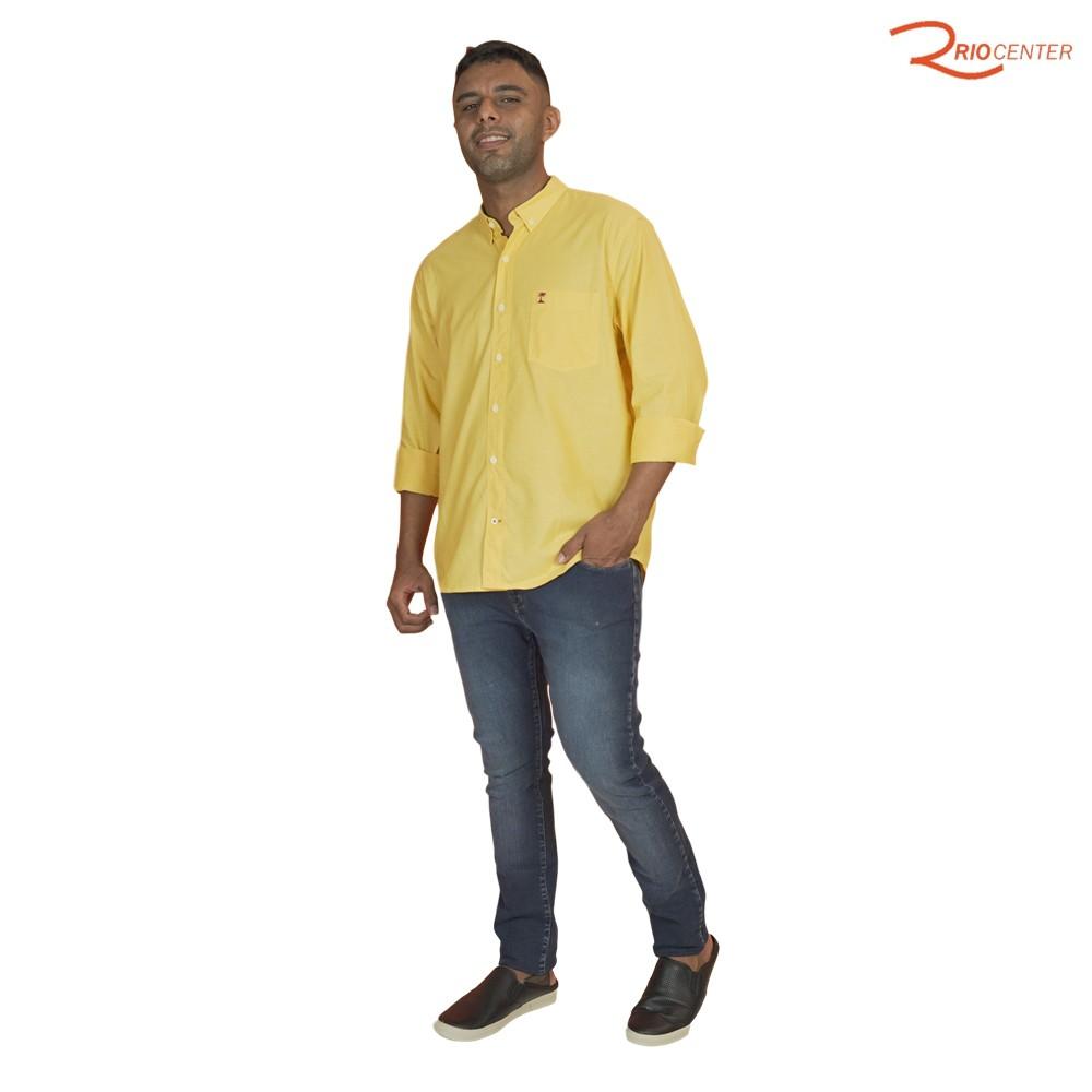 Camisa Ad Manga Longa Básica Mostarda