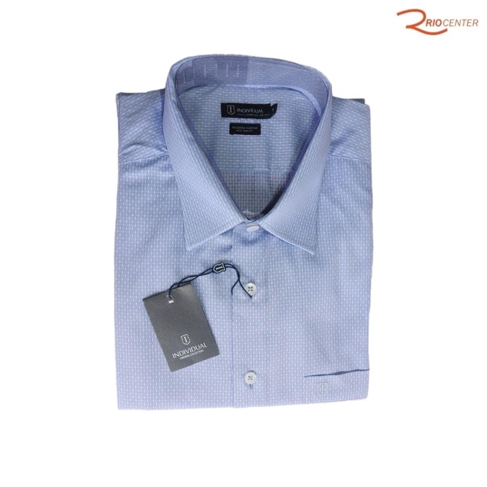 Camisa Individual Manga Curta Azul Claro - Tamanho 5