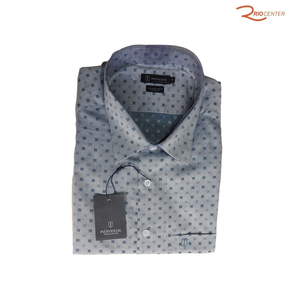 Camisa Individual Manga Curta Comfort Azul - Tamanho 5