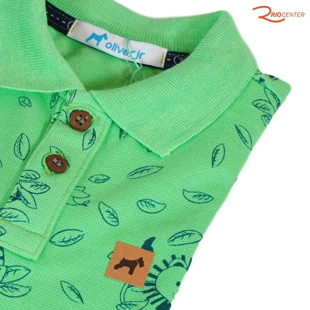 Camiseta Oliver Polo Verde Estampada