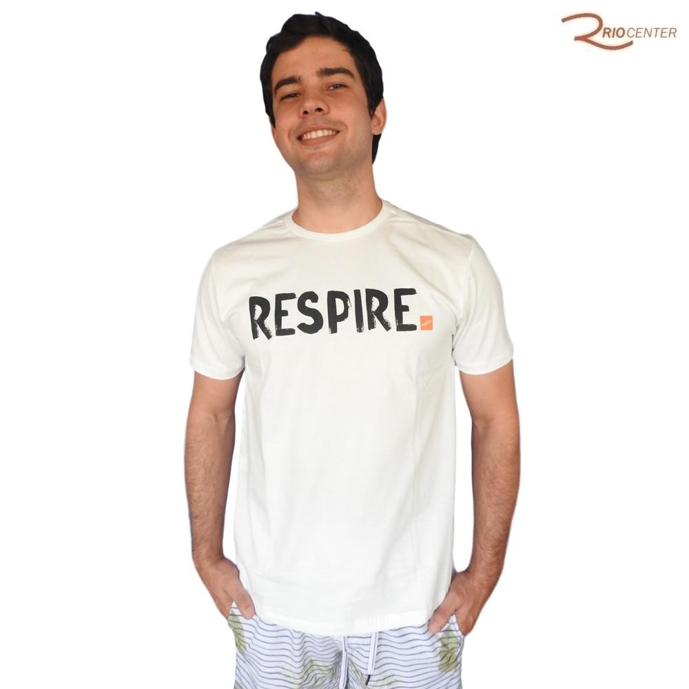 Camiseta Saka Praia Básica Branca Respire